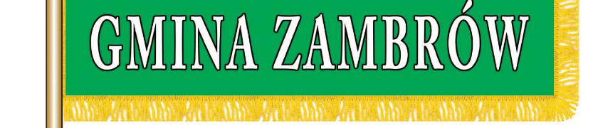 Sztandar Gminy Zambrów Kliknięcie w obrazek spowoduje wyświetlenie jego powiększenia
